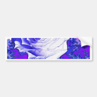 White Rose Purple Gifts by Sharles Art Bumper Sticker