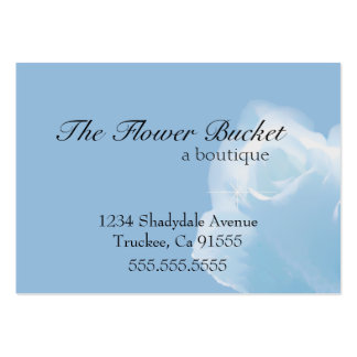 White Rose -Soft Cloud Look Pack Of Chubby Business Cards