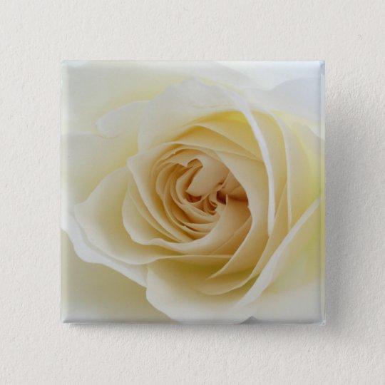 White Rose Square Button 001