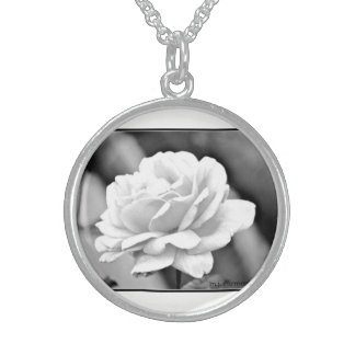 White Rose Sterling Silver Necklace