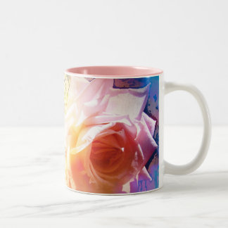 White Rose Two-Tone Coffee Mug