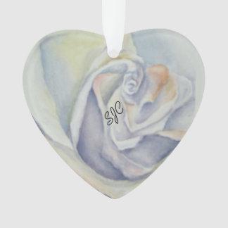 WHITE ROSE VALENTINE ORNAMENT