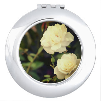 White Rose Vintage Mirror For Makeup