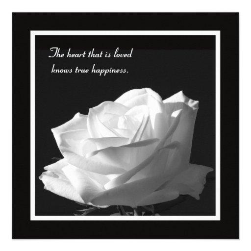 White Rose Vow Renewal Invitation