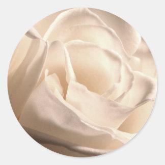 White Rose Wedding Invite Envelope Seal Sticker