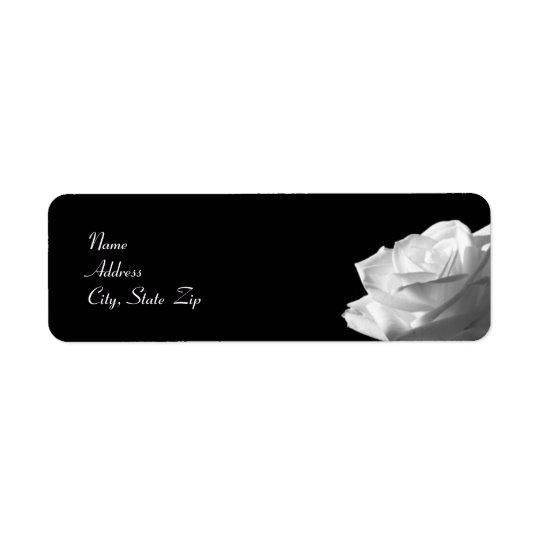 White Rose Wedding Return Address Label