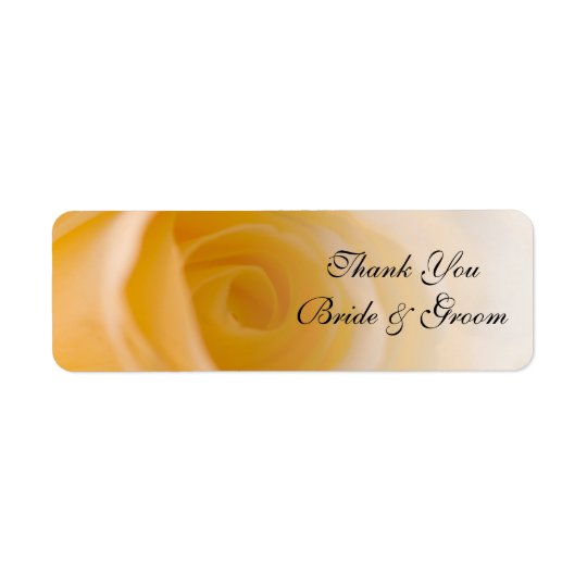 White Rose Wedding Thank You Favour Tag Return Address Label