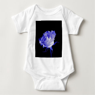 White Rose with Purplish Tints by Sharles Baby Bodysuit