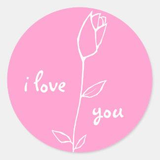 White Rosebud Sticker