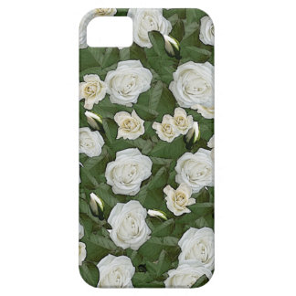 White roses and green leaves iPhone 5 covers