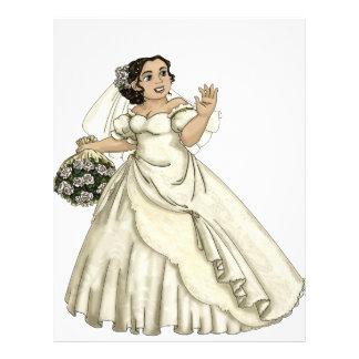 White Roses Bride Full Color Flyer