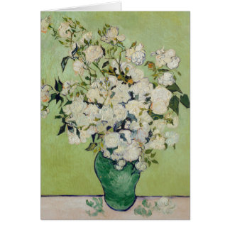 White Roses by van Gogh Card