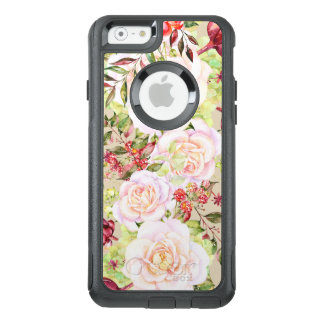 White Roses & Colorful Flowers OtterBox iPhone 6/6s Case
