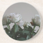 White roses drink coaster