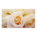 White Roses Floral Bridal Pure Business Cards