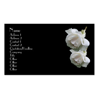 White Roses Floral Business Card