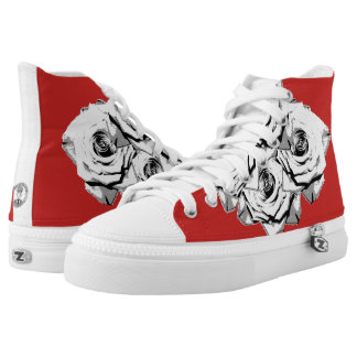 White roses high tops