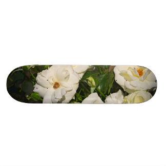 White Roses in Bloom - Flower photography 20 Cm Skateboard Deck