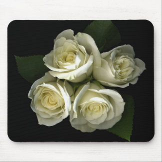 White Roses Mousepad