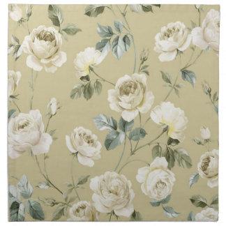 White roses napkin
