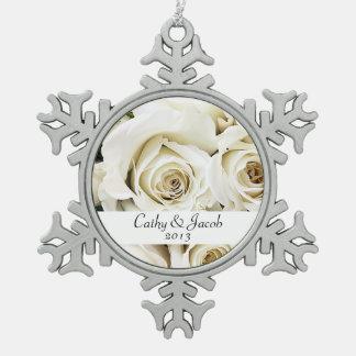 White Roses Ornament