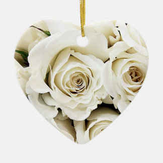 White Roses Ornament