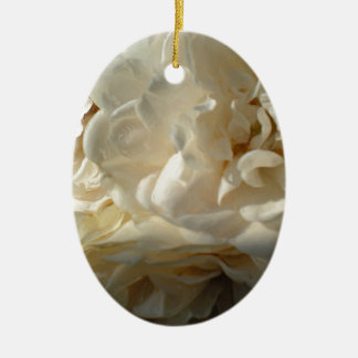 White Roses Painting Christmas Ornament