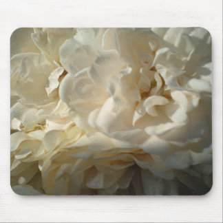 White Roses Painting Mouse Pad