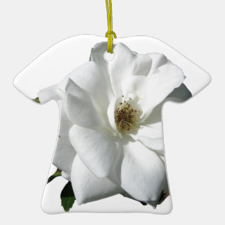 White Roses Party Shower Wedding Blossoms Destiny Ornaments