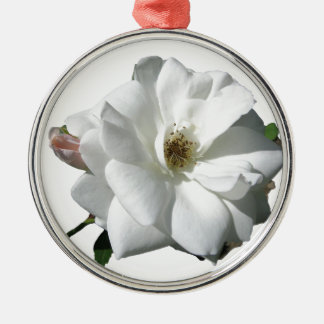 White Roses Party Shower Wedding Blossoms Destiny Silver-Colored Round Decoration
