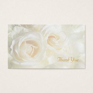 White Roses Thank You Wedding