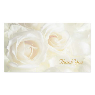 White Roses Thank You Wedding Pack Of Standard Business Cards