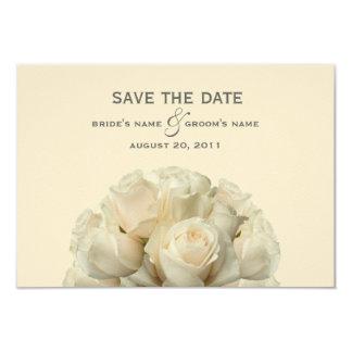 White Roses Wedding Save The Date 9 Cm X 13 Cm Invitation Card