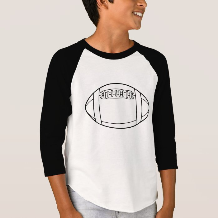 4 Year Old Rugby Boots: White Rugby Ball Silhouette T-Shirt
