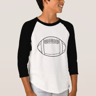 White Rugby Ball Silhouette T Shirts