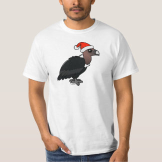 White-rumped Vulture Santa T-Shirt