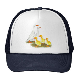White Runner Duck Family Mesh Hat