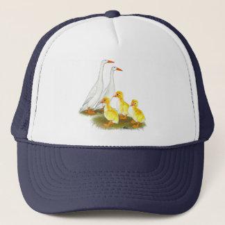 White Runner Duck Family Trucker Hat