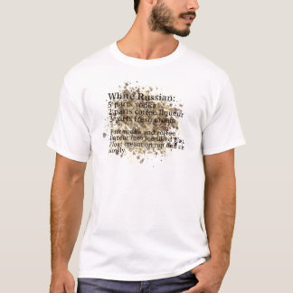 White Russian - Cocktail Recipe T-Shirt
