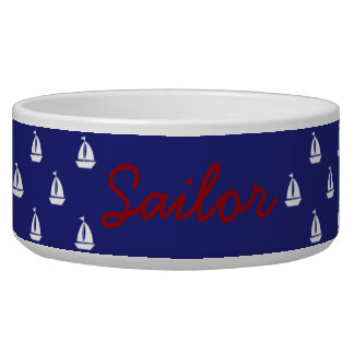 White Sailboats on Nautical Blue Personalized