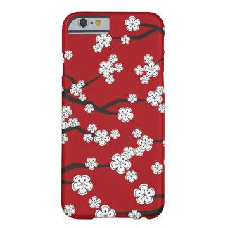 White Sakura Cherry Blossom Flowers iPhone Case
