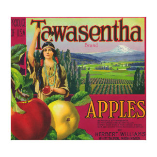White Salmon, Washington - Tawasentha Apple Labe Canvas Print