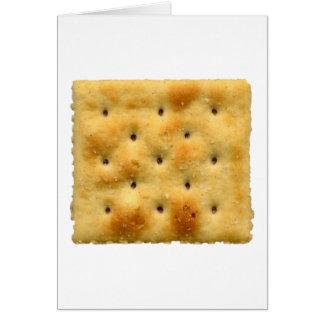 White Saltine Soda Crackers Card