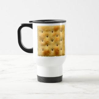 White Saltine Soda Crackers Travel Mug
