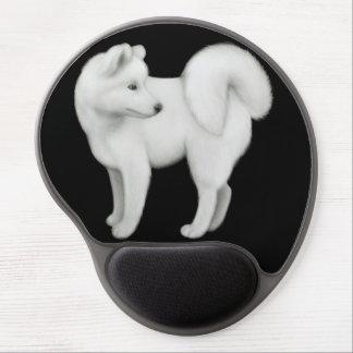 White Samoyed Dog Gel Mousepad