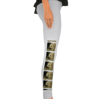 White Samoyed Dog Leggings