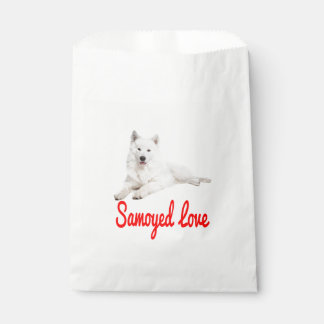 White Samoyed Puppy Dog Love Favour Bags