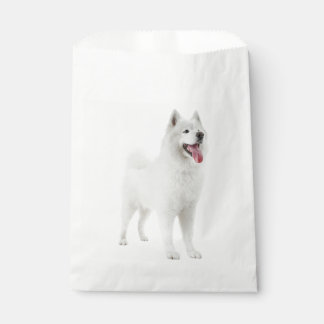 White Samoyed Puppy Dog Party Favour Bags