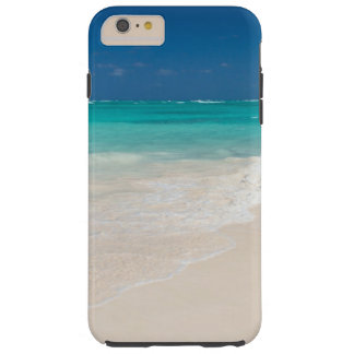 White Sand Beach and Clear Turquoise Water Tough iPhone 6 Plus Case