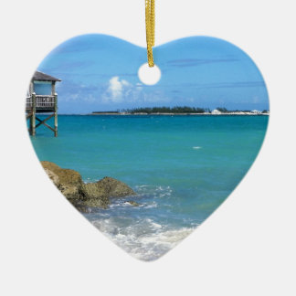 White Sand Beaches in the Bahamas Christmas Ornament